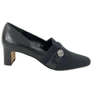 Brighton Quincy Heels Black Made in Italy Pumps